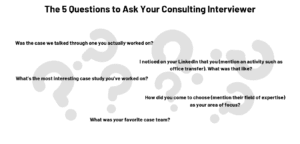 questions to ask in a consulting interview