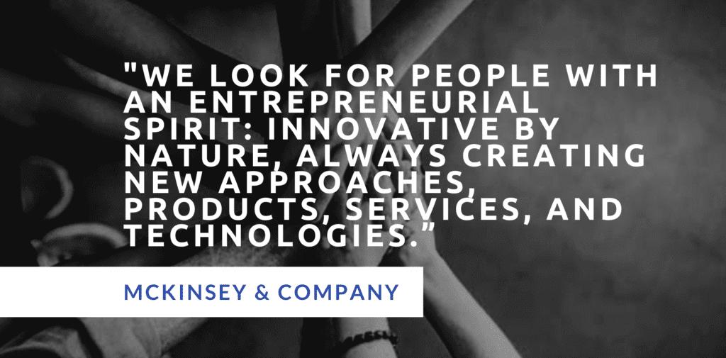 McKinsey PEI entrepreneurial drive