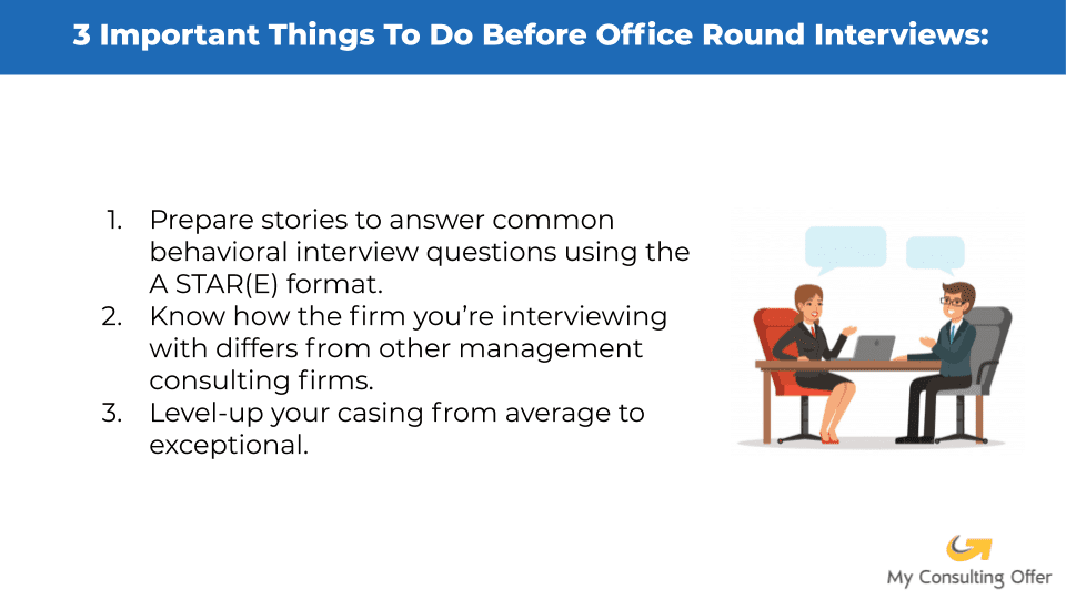 how to prepare for final round consulting interviews