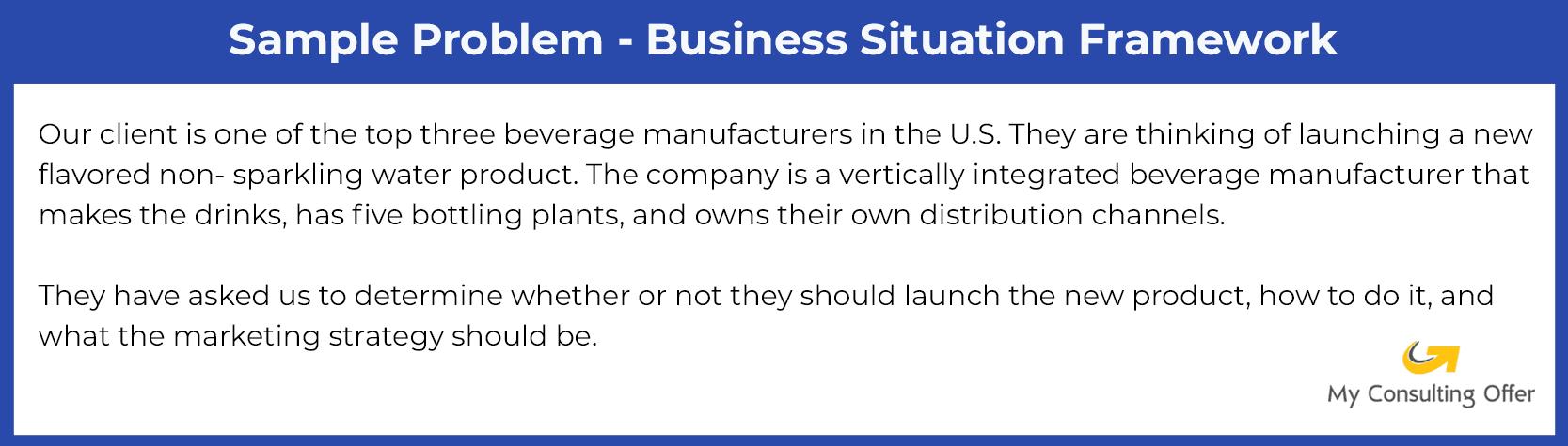 Sample Problem - Business Situation Framework