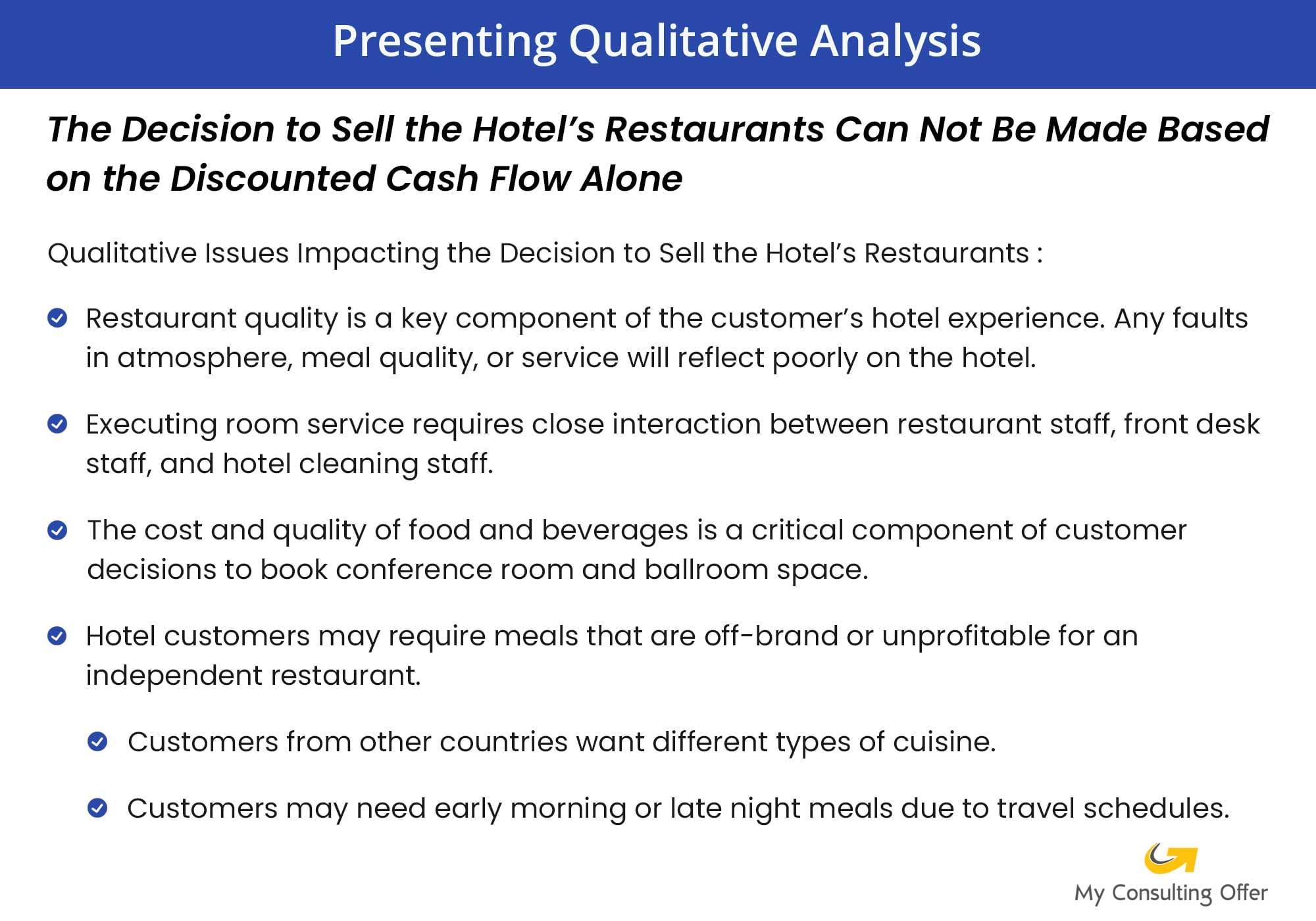 consulting internships - presenting qualitative analysis