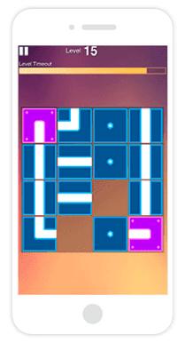 Screenshot of LEK Digital Assessment Pipe Game