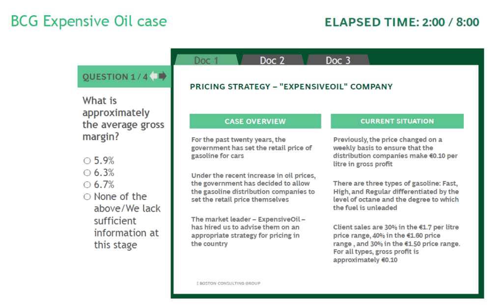 practice sample online case bcg